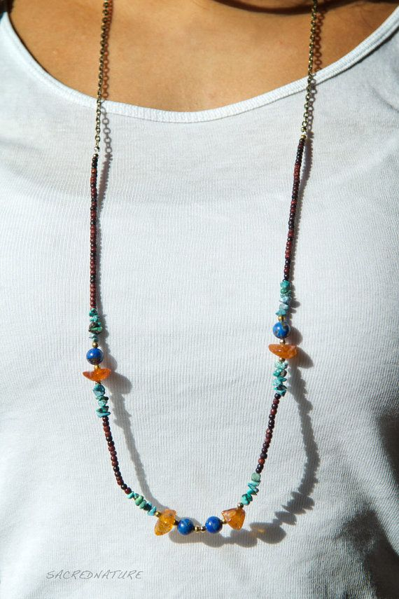 Bohemian Ethnic Necklace Nepal Inspired made w by SacredNatureShop