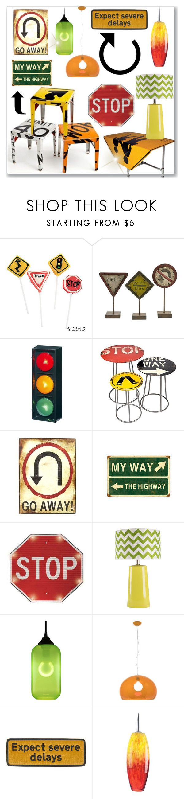 """""""Stop, Yield, Curve Ahead"""" by drenise on Polyvore featuring interior, interiors, interior design, home, home decor, interior decorating, Dot & Bo, Boris Bally, Surya and Niche Modern"""