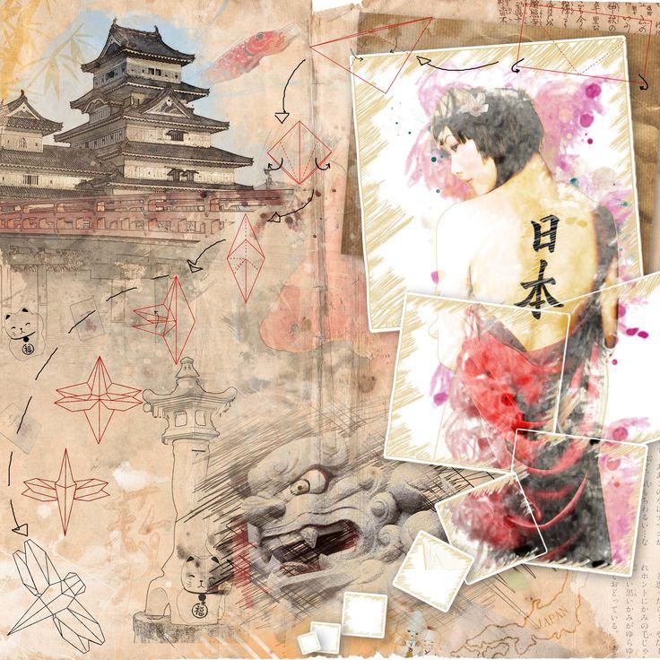 Carnet de voyage au Japon.  Participation au grand concours créatif.  #carnetdevoyage