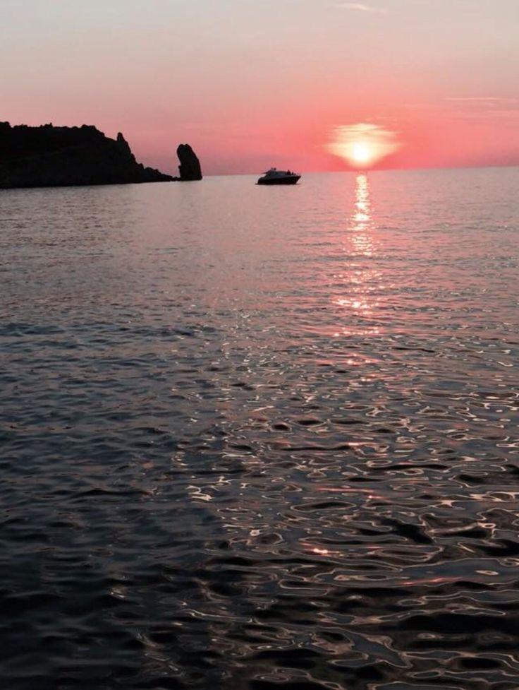 Tramonto sul mare del Gargano