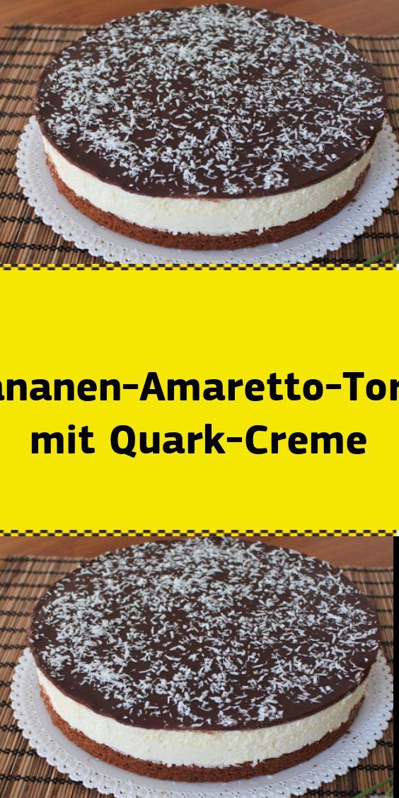 Bananen-Amaretto-Kuchen mit Hüttenkäsecreme   – NUR FÜR DICH