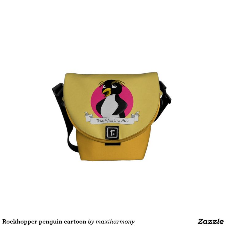 Rockhopper penguin cartoon courier bag