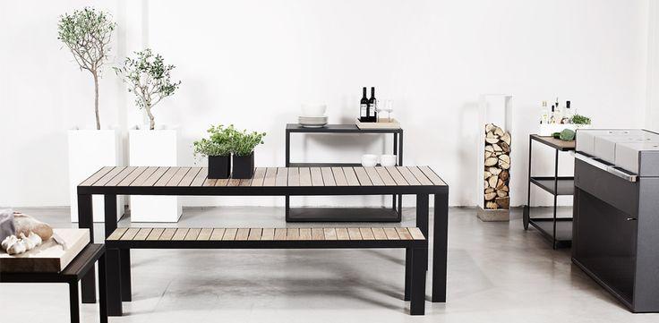 Garden table & Garden bench, Röshults
