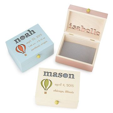 Look what I found at UncommonGoods: Up & Away! Personalized Baby Keepsake Box for $88 #uncommongoods