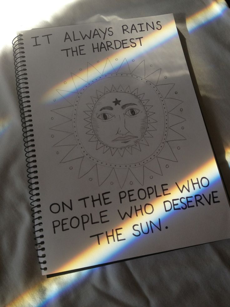 it always rains the hardest on the people that deserve the most sun
