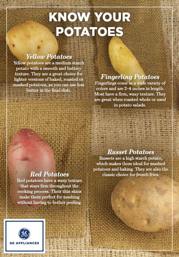 Know your potatoes! Explore the different varieties of potatoes and what they're best used for.