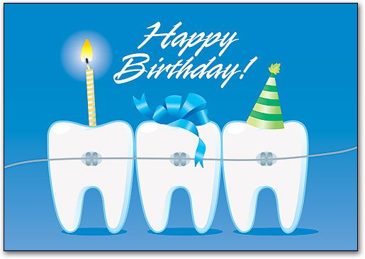 Ortho Party Teeth Postcard by SmartPractice