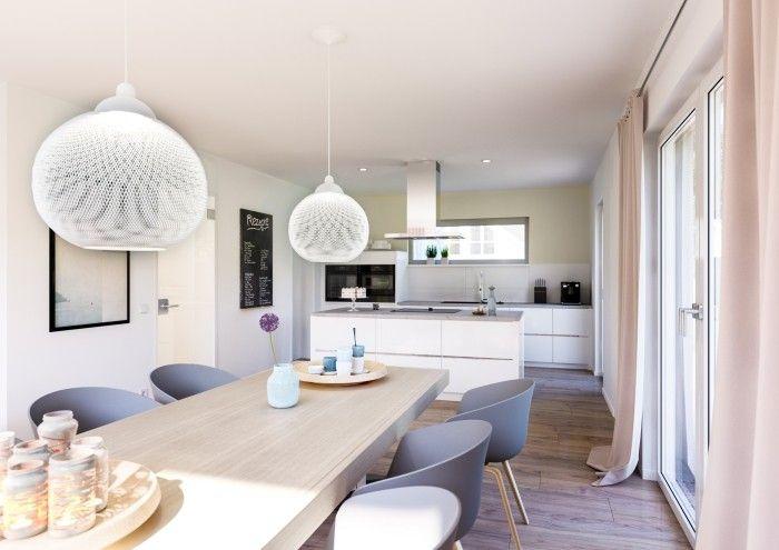 Offene Kuche In Weiss Tipps Und Ideen Fur Die Super Moderne Gestaltung Haus Kuchen Wohn Esszimmer Wohnen