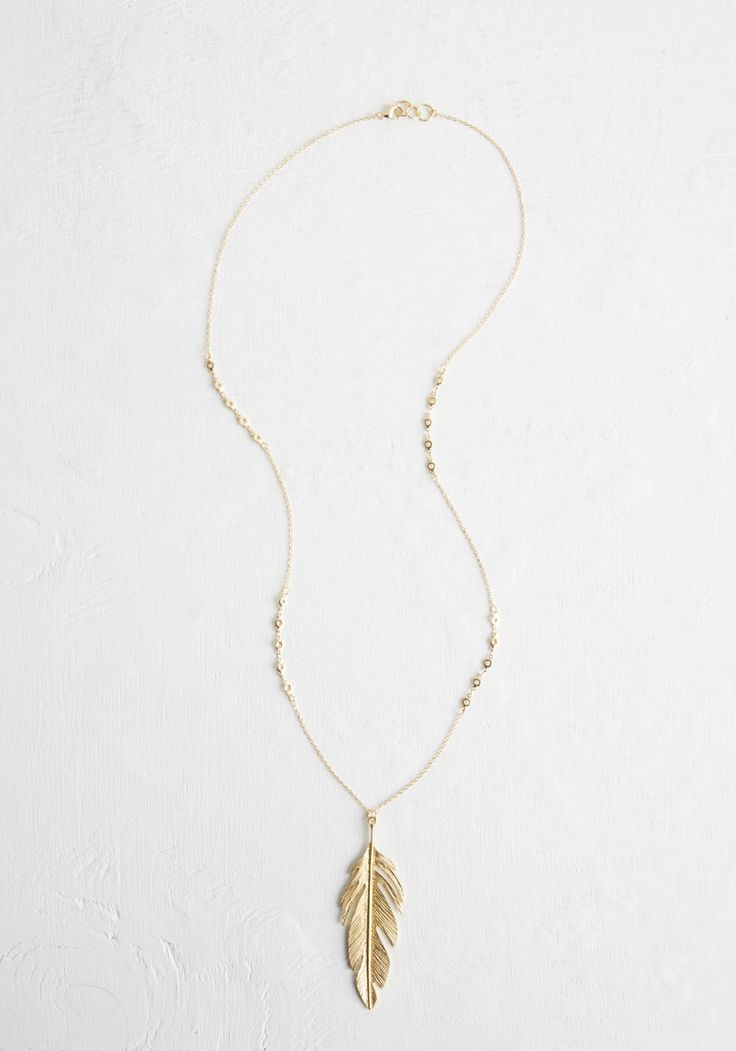 Take Float of This Necklace - Solid, Boho, Darling, Gold, Summer