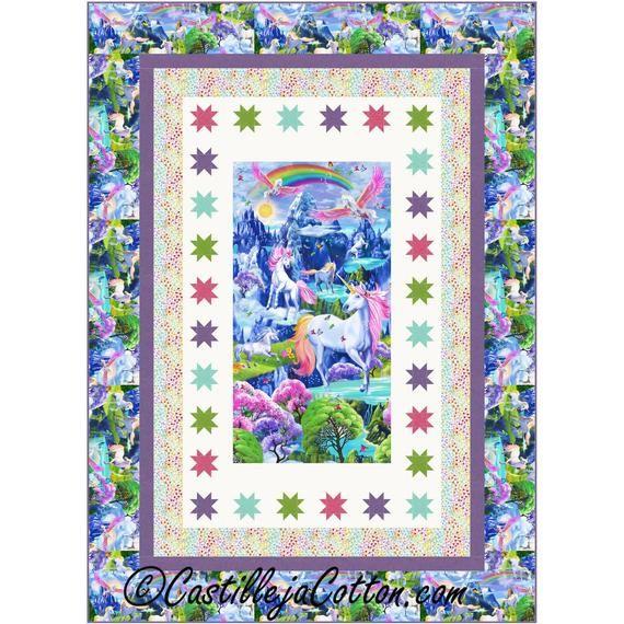 Quilt Pattern Starry Unicorns By Castilleja Cotton