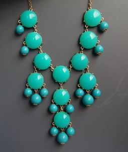 Charming Charlie Turquoise Bubble Necklace