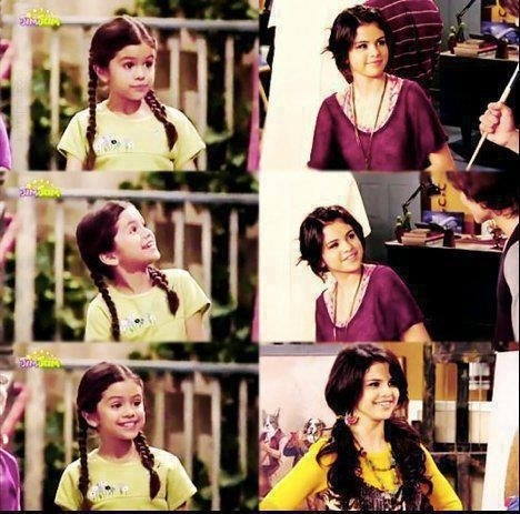 Young Selena on Barney/ Selena on Wizards of Waverly Place
