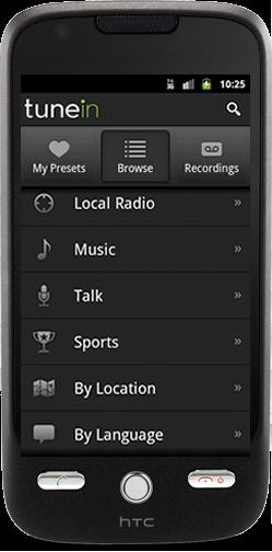 Android için Radyo Uygulaması: TuneinRadio  http://androidturkey.net/2011/07/31/android-icin-radyo-uygulamasi-tunein-radio/