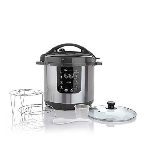 Electric Pressure Cooker 8 Quart Programmable Nonstick Stainless Steel Lid Racks #ElectricPressureCooker