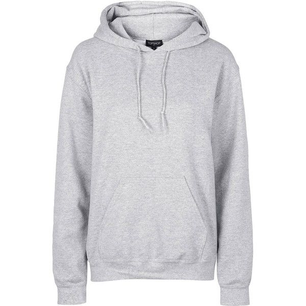 TopShop Oversized Hoodie ($43) via Polyvore featuring tops, hoodies, grey marl, gray hooded sweatshirt, hooded sweatshirt, layered tops, sweatshirt hoodies and oversized tops
