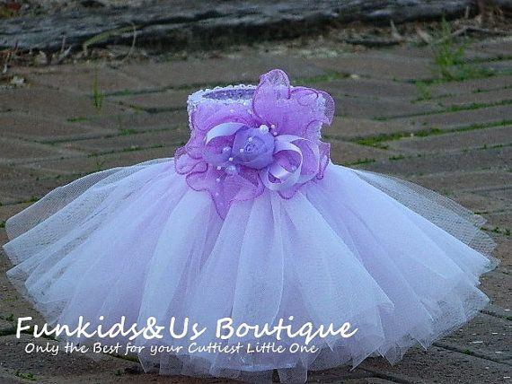 Levender Newborn Tutu Skirt Newborn to 9 by FunkidsandUsBoutique, $18.20