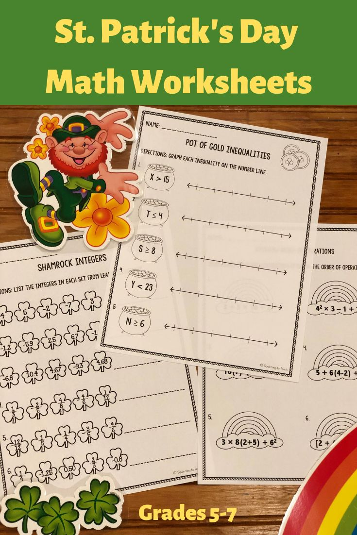 St Patrick S Day Math Worksheets Upper Elementary Math Worksheets Math