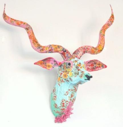 animal trophies, I think this would be a lovely alternative to the real thing!  very cute.