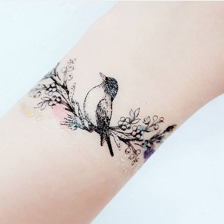Pretty Lovebirds tattoo by PAPERSELF styled by @vivian861207 ❤️ www.paperself.com