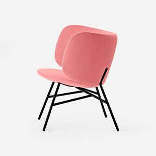 The new Stella 2.0 by +Halle. Designed by Busk + Hertzog. Available in an array of upholstery options - shown here in Kvadrat/Raf Simon Vidar 622 PINK