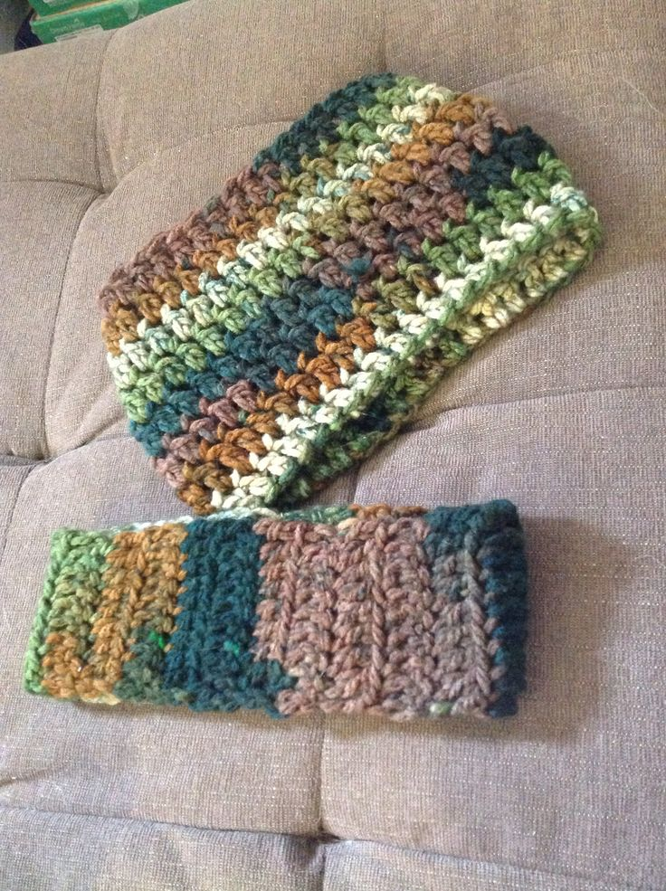 Handmade cowl and headband with one small skein and a couple hours watching the Sunday morning news shows.