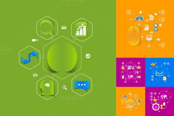 9 BUSINESS  sticker infographic by Palau on Creative Market