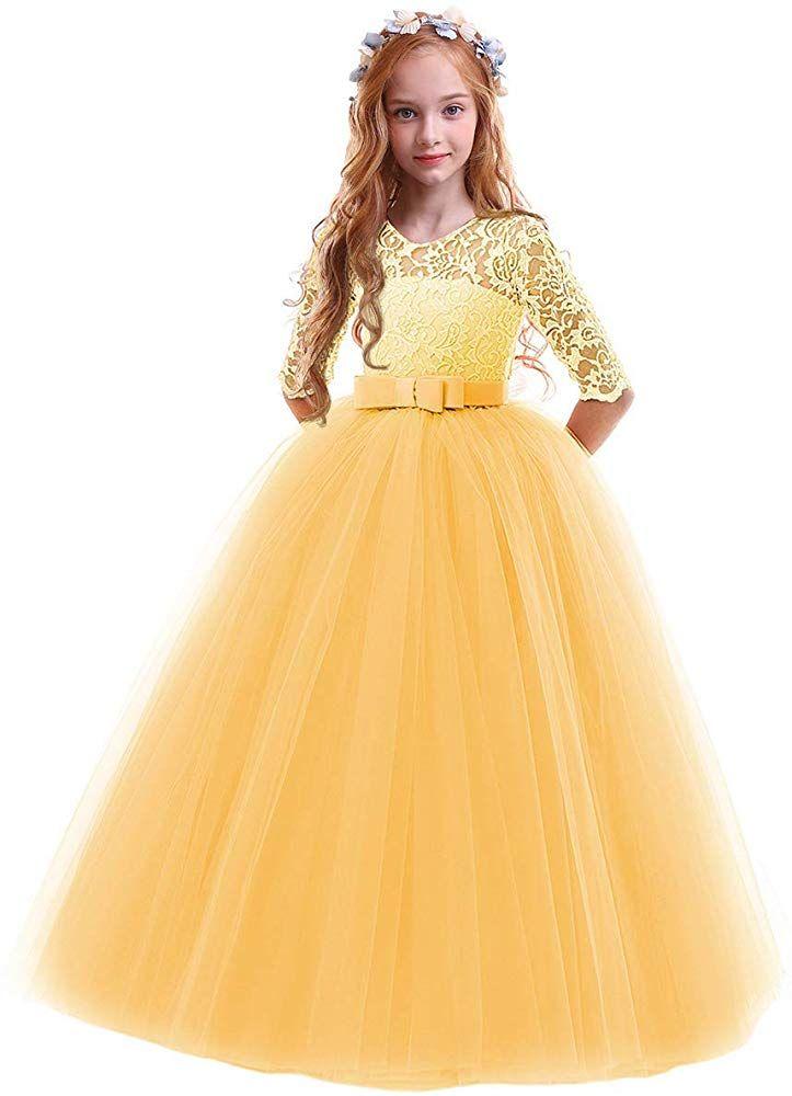Flower girls pageant ball gowns kids chiffon