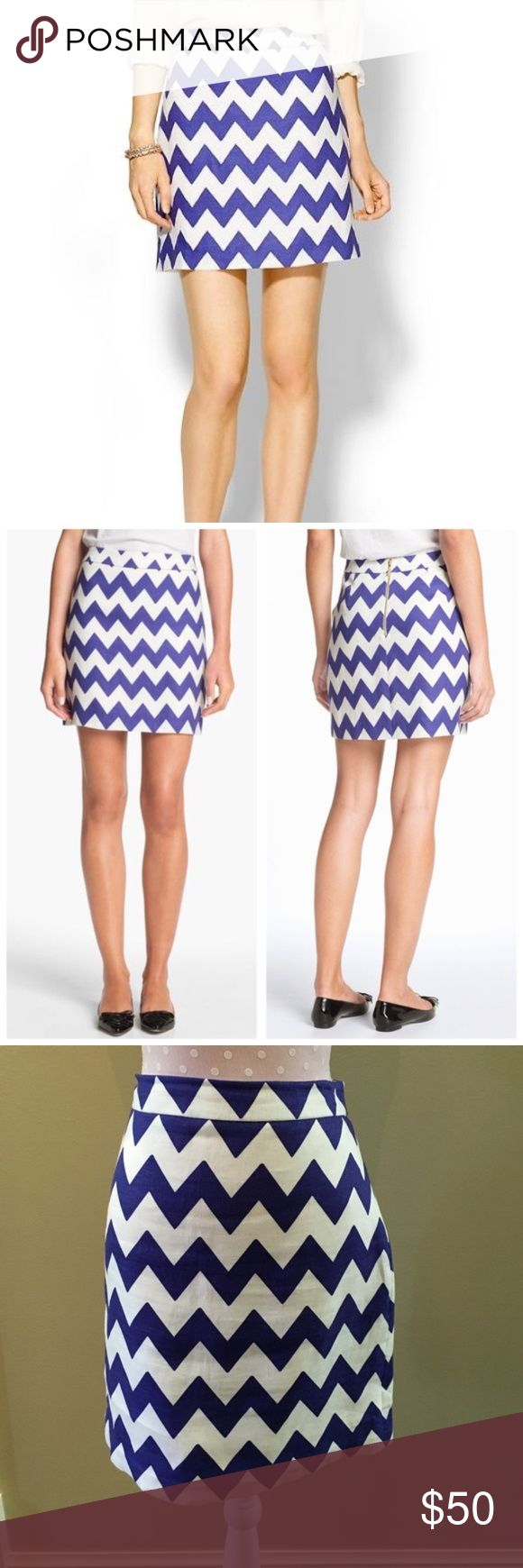 "Adorable Kate Spade Robbie Chevron Skirt kate spade ""robbie"" chevron skirt 