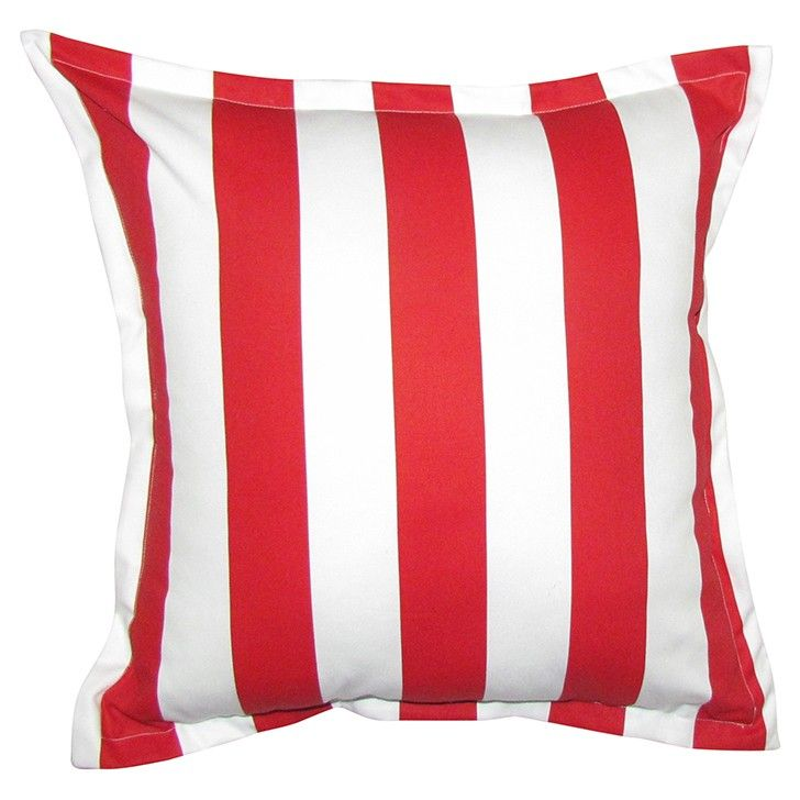 GREY GARDENS   Stripe Scatter Cushion in Red #pillow #cushion #homedecor