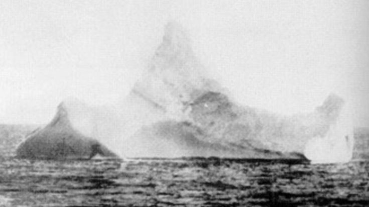 This photo of the iceberg that sank the Titanic was taken by the chief steward of the German ocean liner SS Prinz Adalbert just hours after the tragedy. Its identity was confirmed by a red streak of paintwork scraped across its base, an indication that it had collided with a vessel in the past 12 hours or so