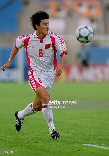Li Ming of China in action during the Asian Cup match against Indonesia played in Tripoli Lebanon Mandatory Credit Stanley Chou /Allsport