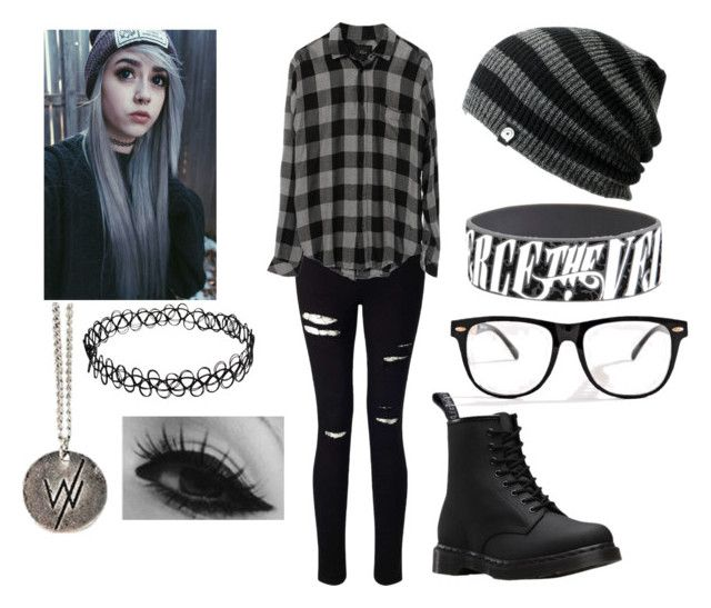 She paints it gray she closes her eyes - Emo Outfit | Pinterest | Emo outfits Emo and Dr martens