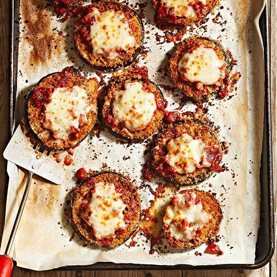 This baked eggplant parmesan is so good you won't believe it's healthy! You can enjoy this classic Italian dish guilt-free as this recipe slims down this classic Italian restaurant order by nearly 600 calories per serving.