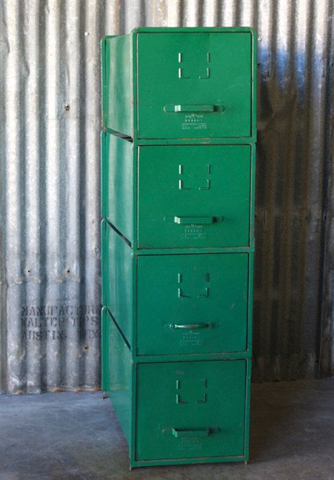 Vintage Green Storage Cabinet The Morris Cabinet sold by SurgeATX, $250.00