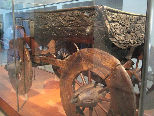 Viking cart - we saw a cart like this in the Bygdoy viking museum! In Norway.