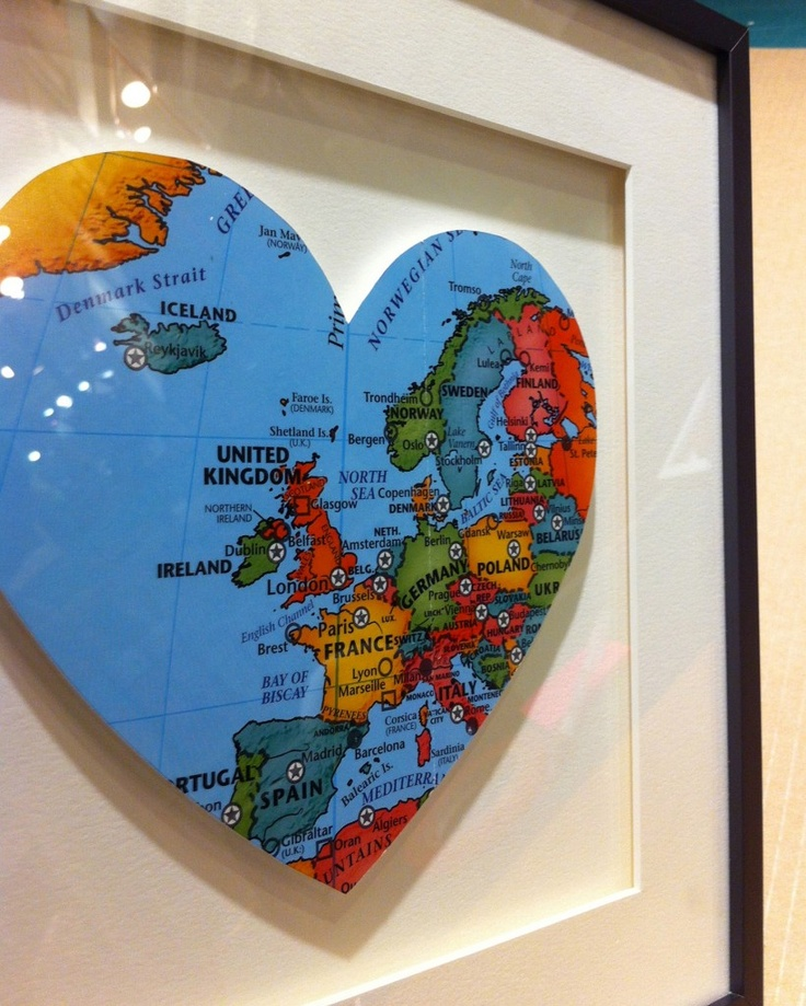 36 best framed maps images on pinterest framed maps frame and heart map in a custom frame sciox Gallery