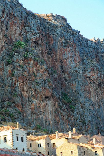 Amazing Monemvasia. Protected by the cliffs...