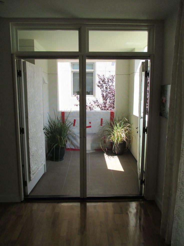 17 best images about french door stowaway retractable for Retractable screen door for outswing door