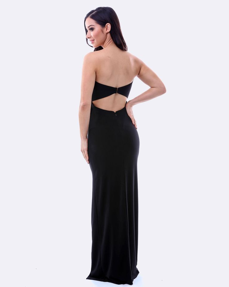 SKIVA Strapless Evening Dress. This new dress has subtle ruching and a high leg split. The back is joined by a sheath style strap using strong metal hooks. The stretch fabric ensures a perfect slimming fit that hugs your body shape. Full length lining and built in breast cups. A very versatile dress, perfect for any special occasion. Ideal for use with accessories such as our crystal brooch (sold separately). Suitable for proms, school balls, weddings, parties, and any formal evening…