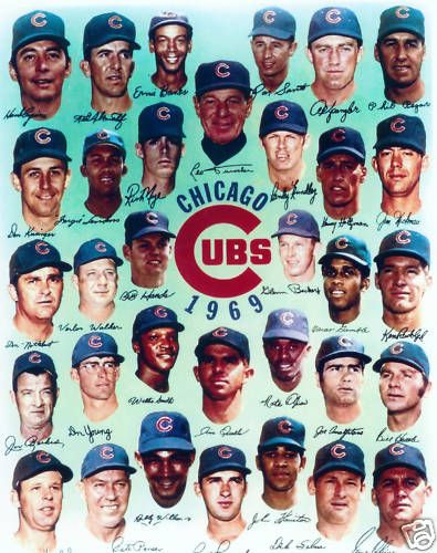 1969 Chicago Cubs 8x10 Team Photo Banks Santo Jenkins Vintage Baseball MLB HOF | eBay