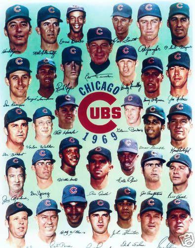 1969 Chicago Cubs 8x10 Team Photo Banks Santo Jenkins Vintage Baseball MLB HOF | eBay