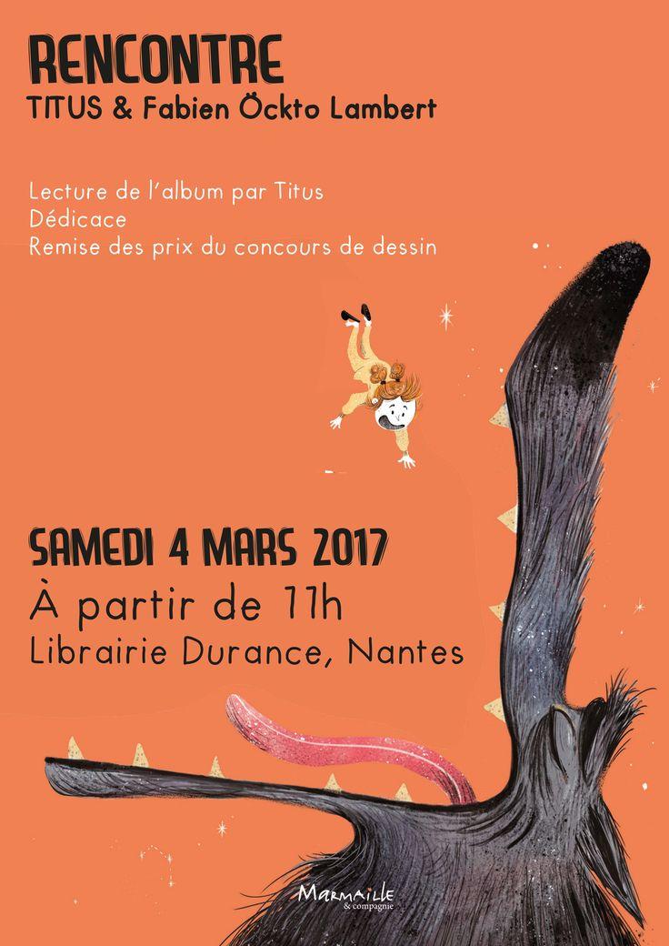 """Rendez-vous le 4 mars à la librairie Durance pour une lecture contée et dédicace de l'album """"Oup's ! Y'a un loup !"""" avec Titus et Fabien Ockto Lambert !"""