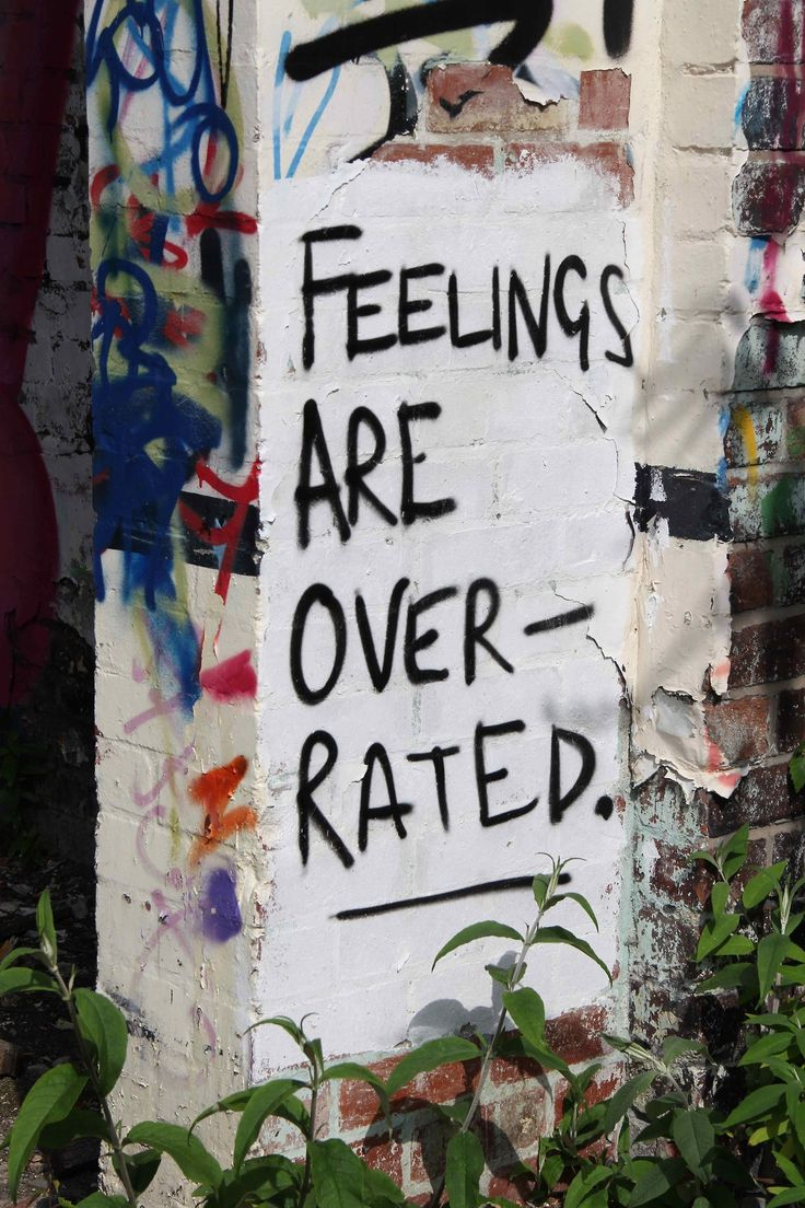 The sign of overrated feelings