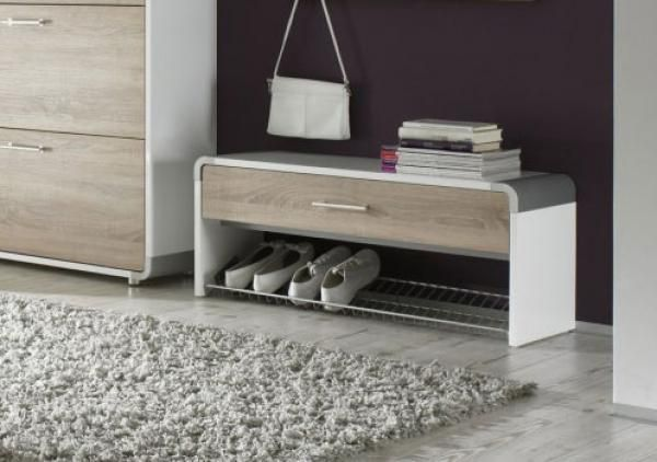 Indra 1 drawer shoe bench