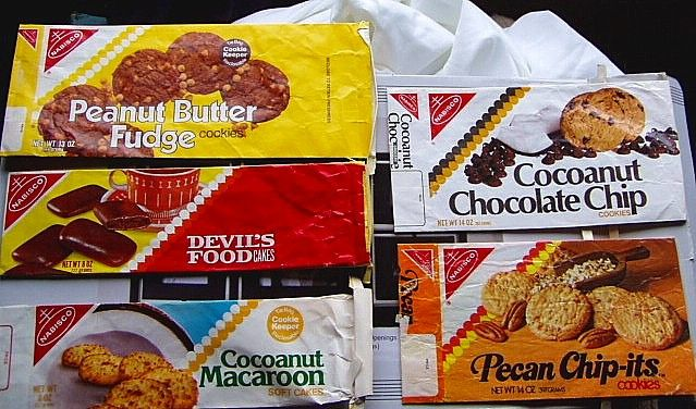 1970s cookie packages - back when packaged cookies actually tasted pretty good!