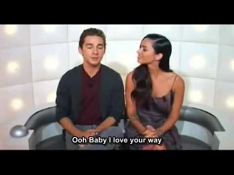 Shia LaBeouf and megan fox answering funny questions. (don't know who the other people are ;)