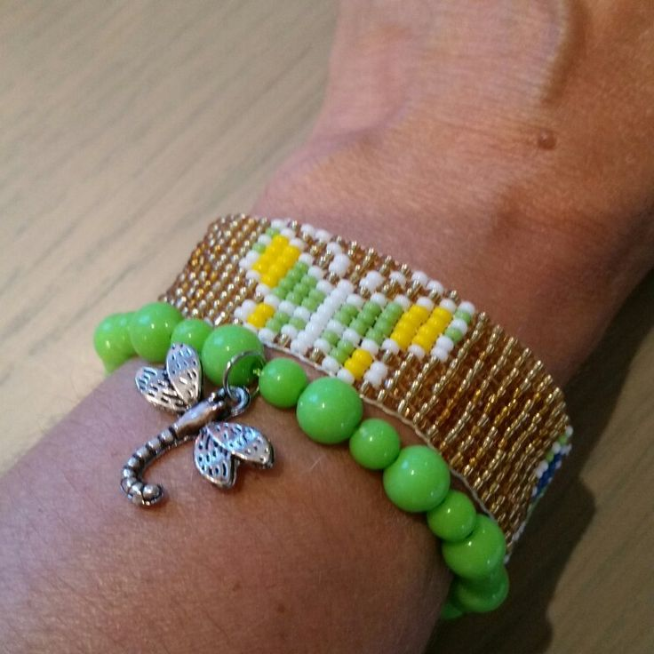 Dubbele armband met vlinders