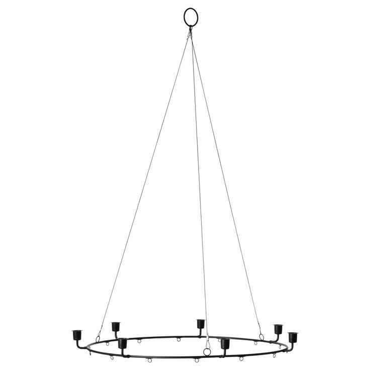 VINTER 2017, Kronleuchter für 7 Kerzen, schwarz Jetzt bestellen unter: https://moebel.ladendirekt.de/lampen/deckenleuchten/kronleuchter/?uid=b79ecb8c-43ab-59d5-b0a8-235908a1cde6&utm_source=pinterest&utm_medium=pin&utm_campaign=boards #deckenleuchten #kronleuchter #lampen