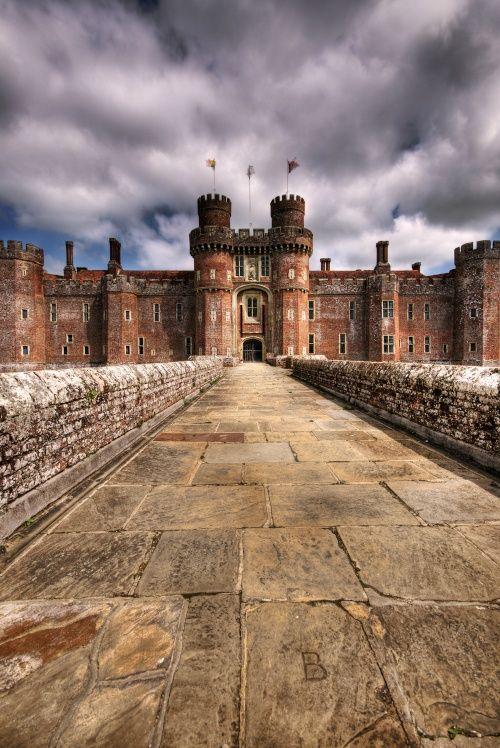 Herstmonceux Castle is a brick-built Tudor castle near Herstmonceux, East Sussex, England.