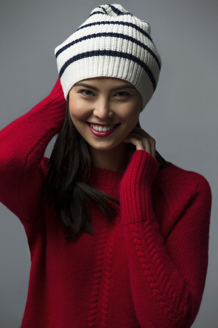 Nautica Striped Ribbed Beanie Crafted of warm, extrafine wool, this beanie will cut the cold and look cool while doing it. Makes a cozy stocking stuffer!